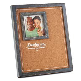 Lucky Us Cork Board Picture Frame , 4x4, , large