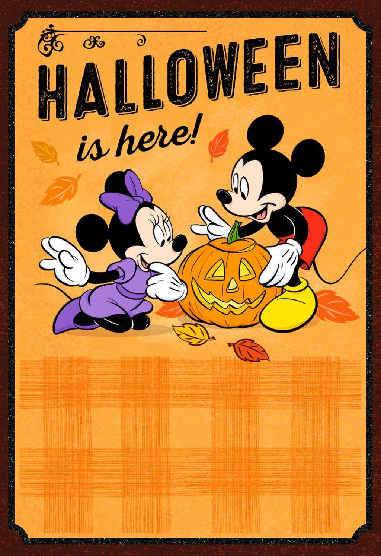 Disney Mickey And Minnie Halloween Card Greeting Cards Hallmark
