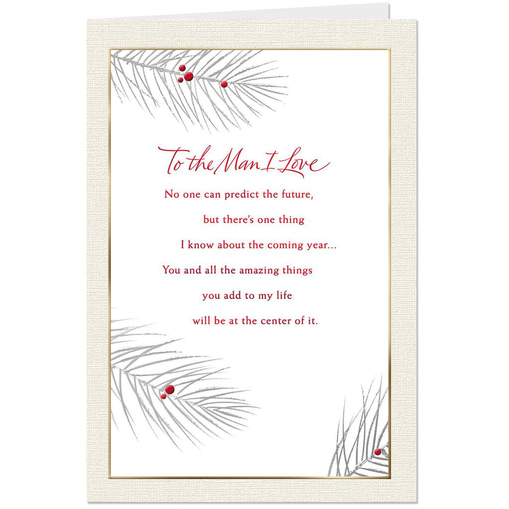 To the Man I Love Christmas Card