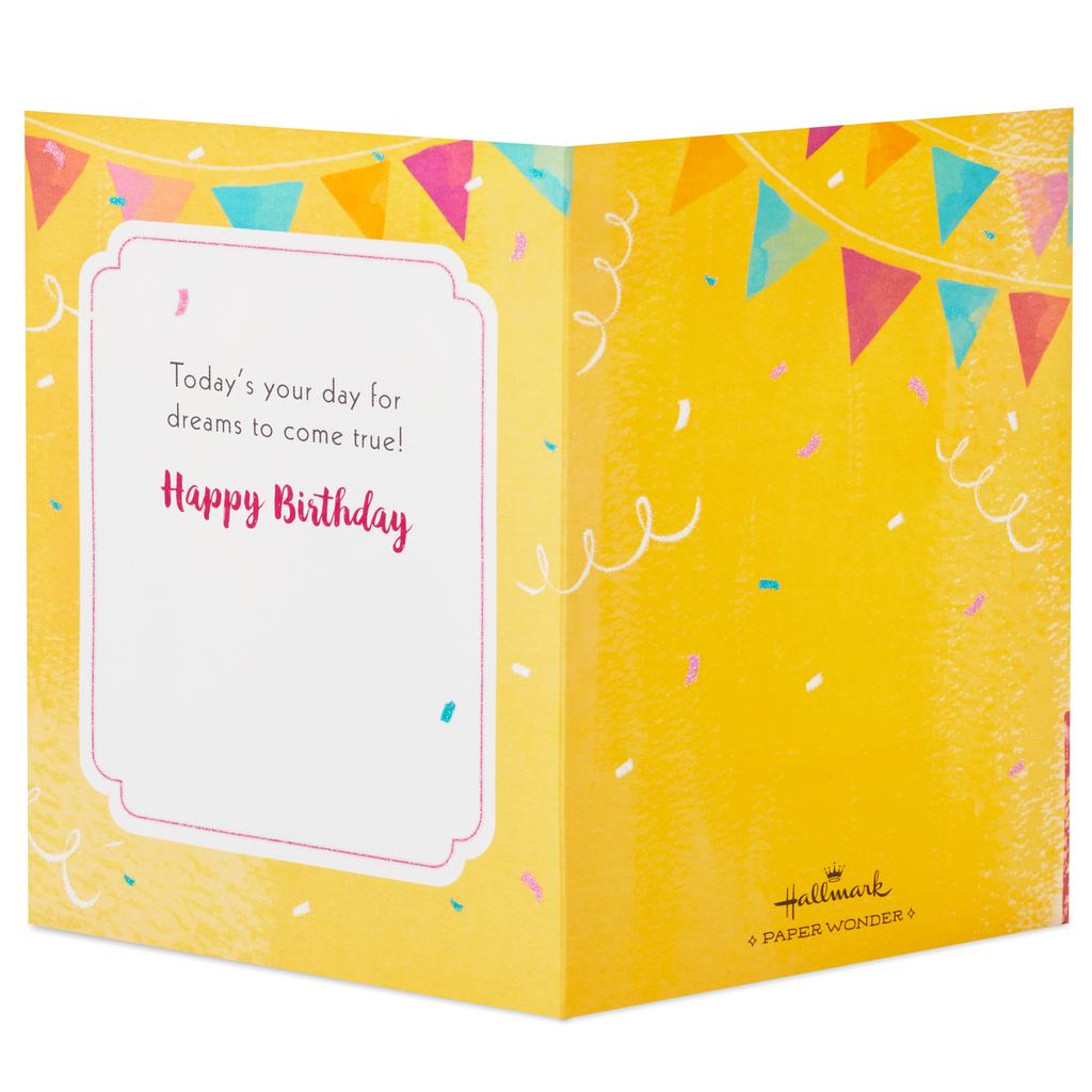 Make A Wish Cake Pop Up Birthday Card