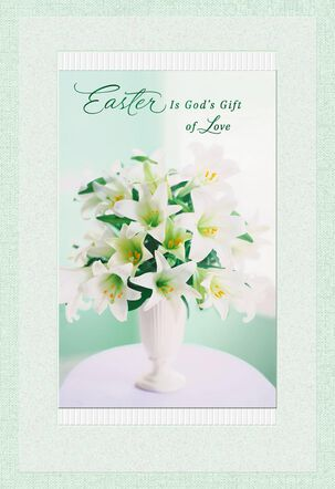 God's Gift of Love Religious Easter Card