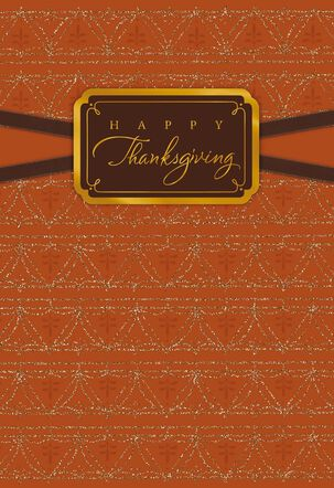 Remembering My Blessings Thanksgiving Card