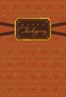 Remembering My Blessings Thanksgiving Card,