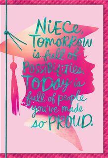You Make Us Proud, Niece Graduation Card,