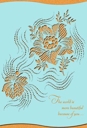 Laser-Cut Floral Elegant Mother's Day Card