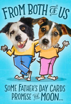 Mooning Dogs Pop Up Father's Day Card From Both of Us
