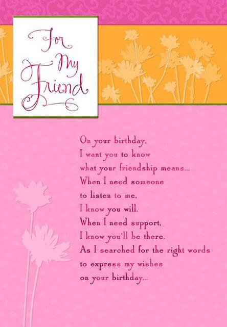 Right Words Friend Birthday Card Greeting Cards Hallmark