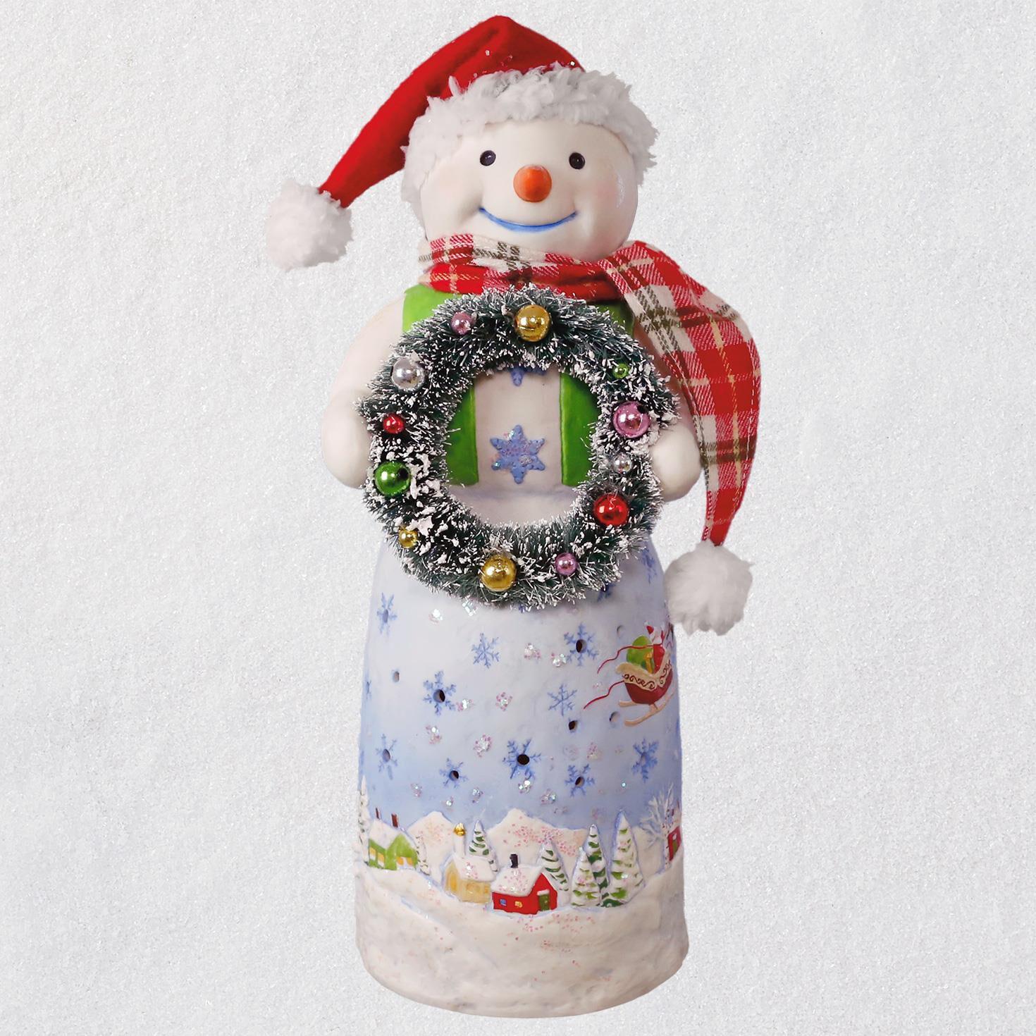 Modal Scarf  Christmas Snowmen Lighted By Vida Vida