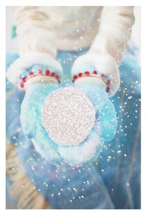 Sparkling Snowball Christmas Card