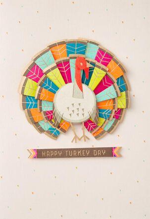 Good Stuff Colorful Turkey Thanksgiving Card