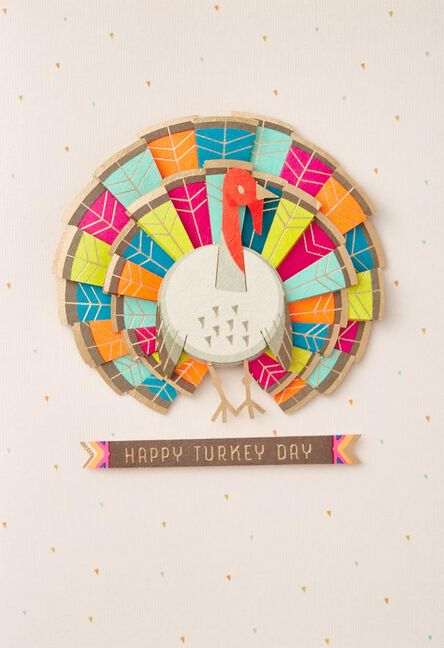 good stuff colorful turkey thanksgiving card greeting cards hallmark