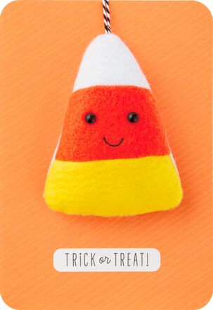 Stuffed Candy Corn Halloween Card