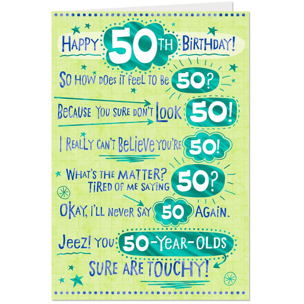 How Does It Feel Funny 50th Birthday Card Greeting Cards Hallmark