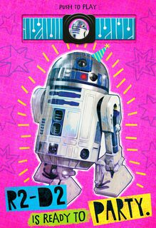 R2-D2™ Party Girl Birthday Sound Card,