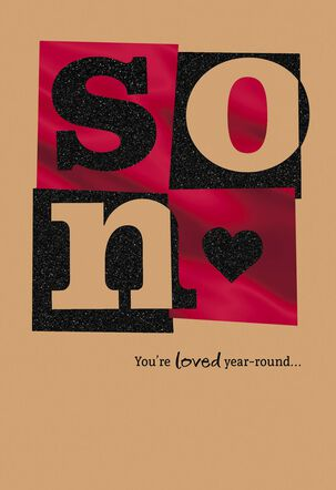 You're Loved Year-Round Sweetest Day Card for Son