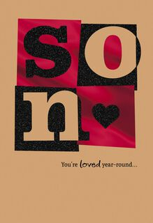 You're Loved Year-Round Sweetest Day Card for Son,