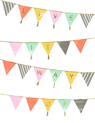 Flag Pennants Live It Way Up Birthday Card