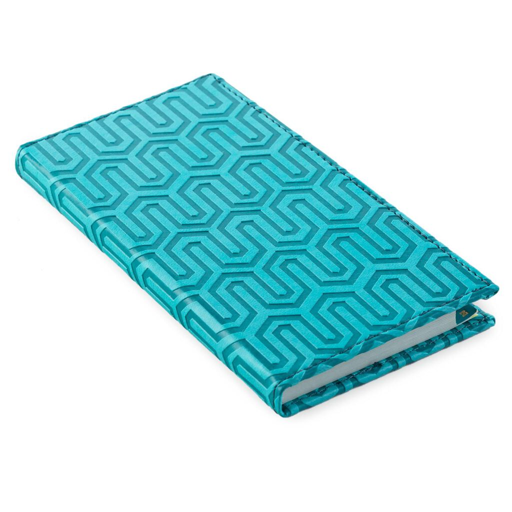 teal geometric design password keeper address books hallmark
