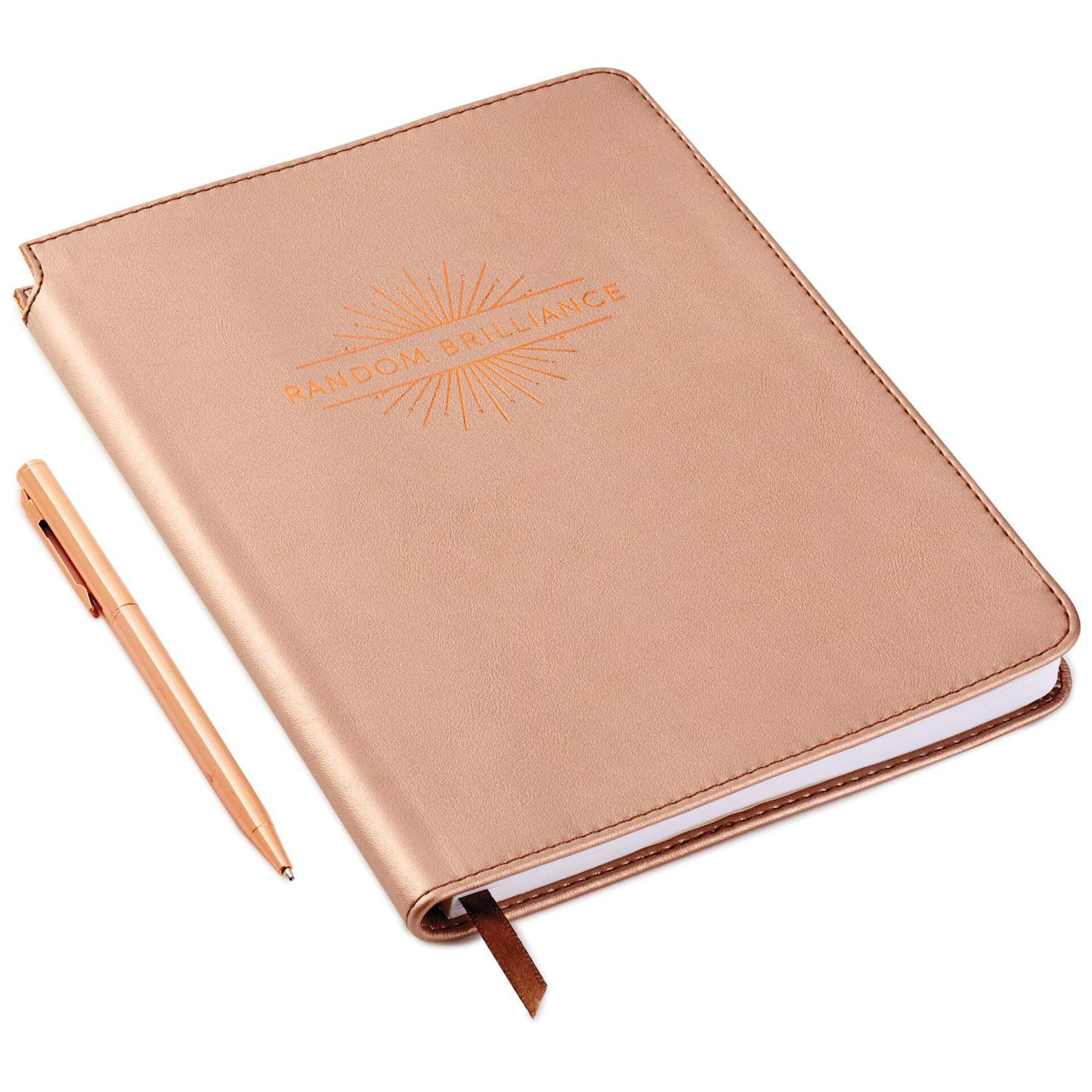 Random Brilliance Faux Leather Notebook With Pen