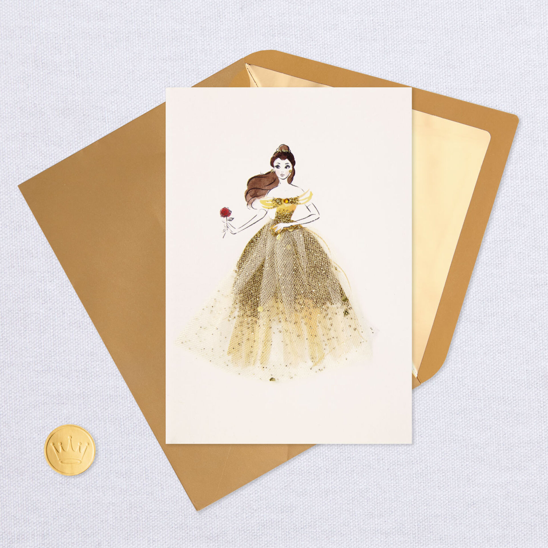 HALLMARK DISNEY PRINCESS GREETING CARD W// ENVELOPE