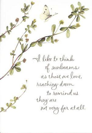 Marjolein Bastin Sunbeams Sympathy Card