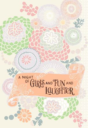 Fun and Laughter Bachelorette Party Wedding Card