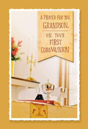 A Prayer for You, Grandson First Communion Card