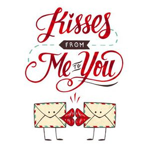 Kisses From Me to You Love Card