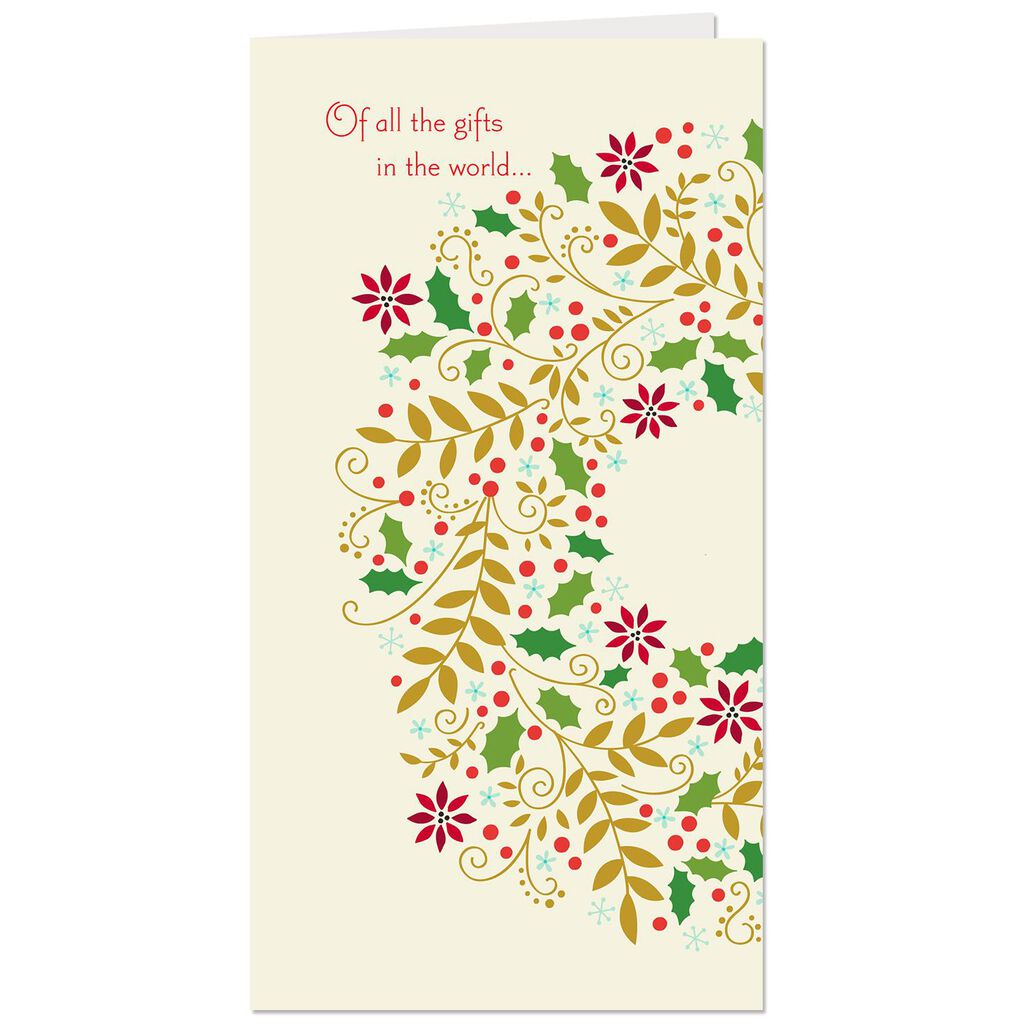 Patterned Wreath Money Holder Christmas Card - Greeting Cards - Hallmark