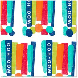 Woo-Hoo Exclamation Point Wrapping Paper Roll, 27 sq. ft., , large