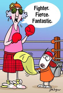 "Maxine™ ""F"" Words for Cancer Funny Encouragement Card,"