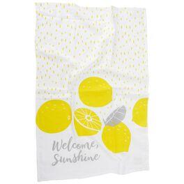 Welcome Sunshine With Lemons Tea Towel, , large