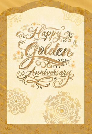 Golden Wishes 50th Anniversary Card