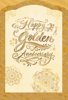 Golden Wishes 50th Anniversary Card,