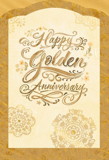 golden wishes 50th anniversary card greeting cards hallmark