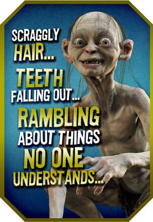 You and GOLLUM Birthday Card