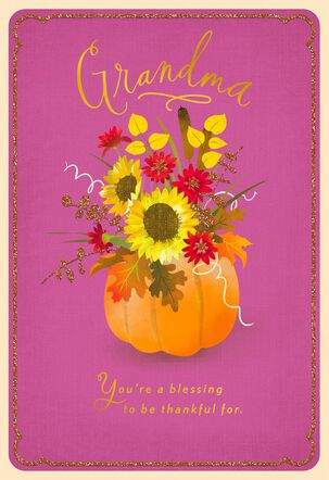 You're a Blessing Thanksgiving Card for Grandma