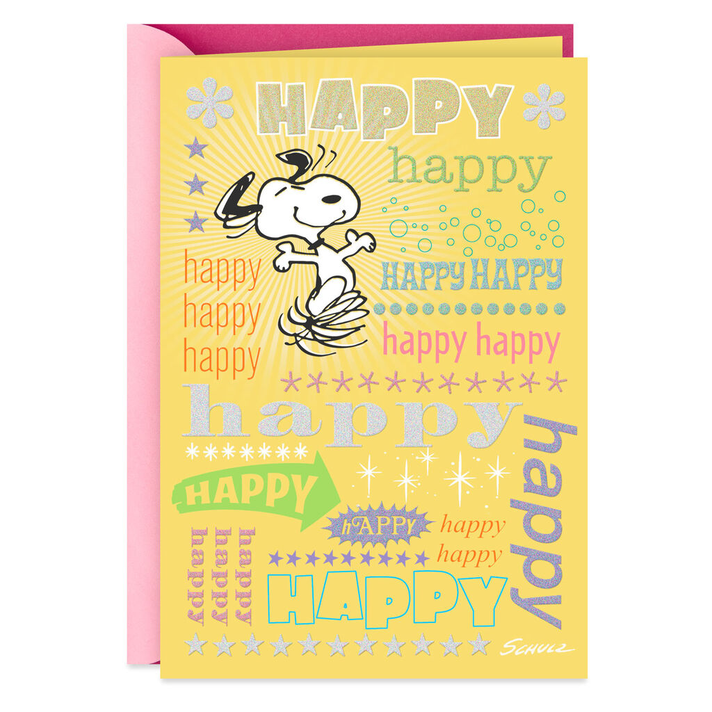 Snoopy Happy Birthday Card