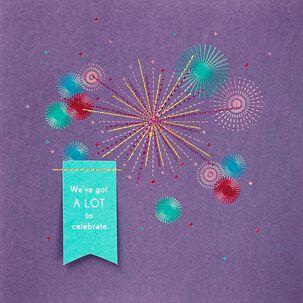 Fireworks Anniversary Card