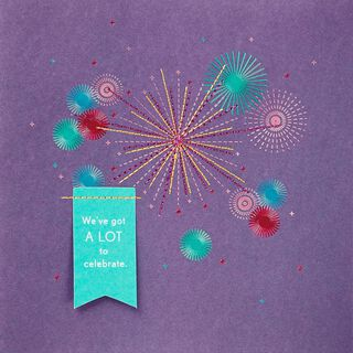 Fireworks Anniversary Card,