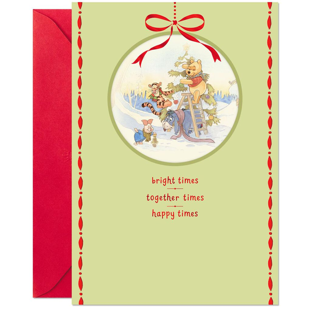 Disney Winnie the Pooh The Best of Times Christmas Card - Greeting ...