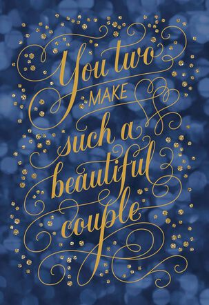 Blue Bubbles Beautiful Couple Anniversary Card
