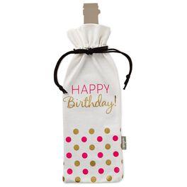 Confetti Dots Happy Birthday Wine Bottle Bag, , large