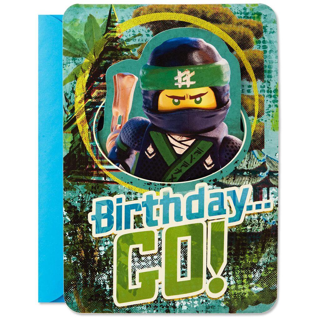 Lego Ninjago Go Musical Pop Up Birthday Card
