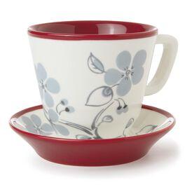 Dogwood Branch Teacup and Saucer Set, , large