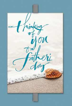 Seashell on the Beach Sympathy Father's Day Card