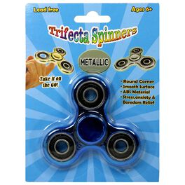 Metallic Trifecta Fidget Spinner, Assorted Colors, , large