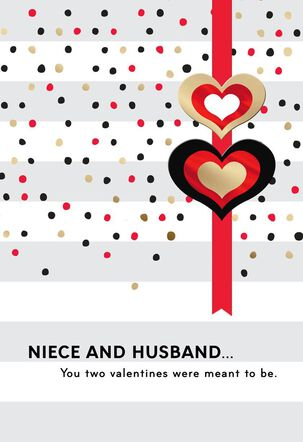 For Niece and Husband Valentine's Day Card