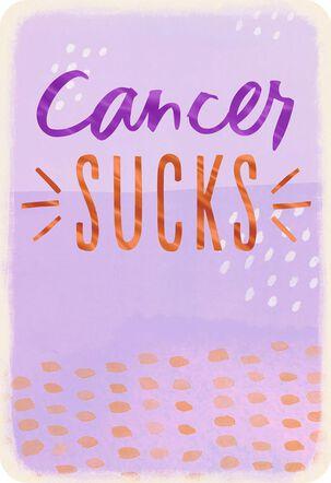 Cancer Sucks Support Card