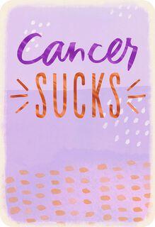 Cancer Sucks Support Card,